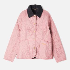 Barbour Girl's Liddesdale Quilt Jacket - Rose Bay/Navy