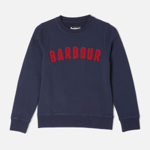 Barbour Boy's Prep Logo Crew Sweatshirt - Navy