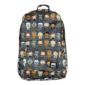Loungefly Star Wars Solo Chibi Characters Nylon Backpack