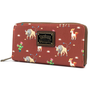 Loungefly Pokemon Tauros Western Style Zip Around Wallet
