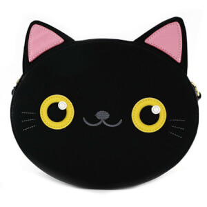 Loungefly Black Cat Face Crossbody Bag
