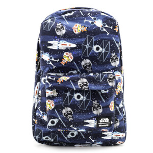 Loungefly Star Wars Mochila en Nylon Naves Espaciales Chibi