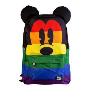 Disney Loungefly Mochila Nylon Mickey Mouse Arcoiris