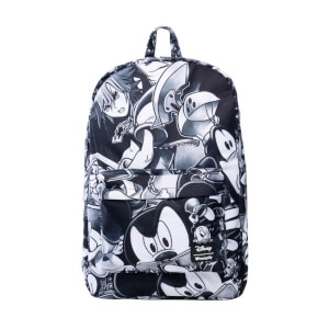 Loungefly Kingdom Hearts Black & Grey Nylon Backpack