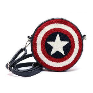 Loungefly Marvel Captain America Shield Crossbody Bag