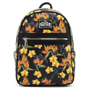 Loungefly Marvel Black Panther Floral Mini Backpack