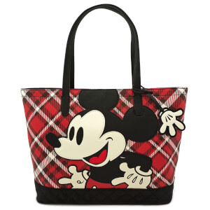 Loungefly Disney Mickey Mouse Twill Tote With Puffy Nylon Trim