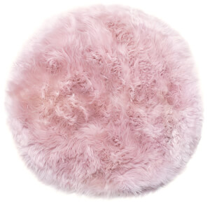 Royal Dream 100% Round Sheepskin Rug - Heavenly Pink