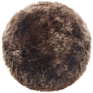 Royal Dream 100% Round Sheepskin Rug - Taupe