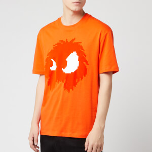 McQ Alexander McQueen Men's Dropped Shoulder Monster T-Shirt - Electric Orange