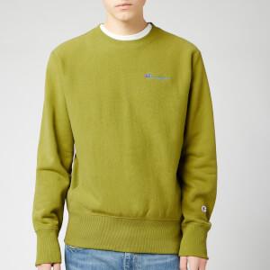 Champion Men's Small Script Sweatshirt - Green