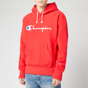 Champion Men's Big Script Hooded Sweatshirt - Red