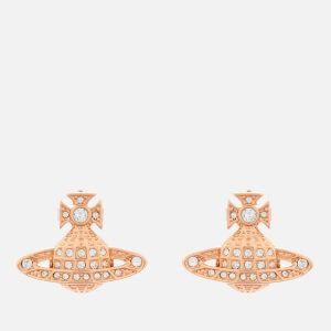 Vivienne Westwood Women's Minnie Bas Relief Earrings - Pink Gold Crystal