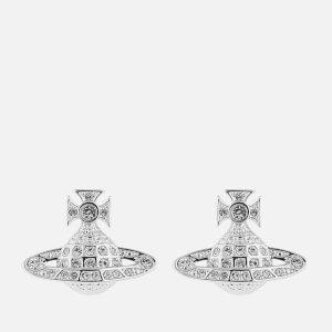 Vivienne Westwood Women's Minnie Bas Relief Earrings - Rhodium Crystal