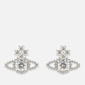Vivienne Westwood Women's Valentina Orb Earrings - Rhodium White