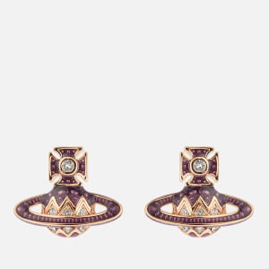 Vivienne Westwood Women's Aretha Bas Relief Earrings - Pink Gold Crystal Purple