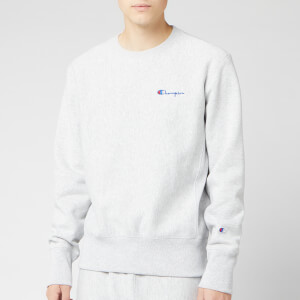 Champion Men's Small Script Sweatshirt - Grey Marl