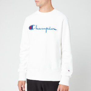 Champion Men's Big Script Sweatshirt - White