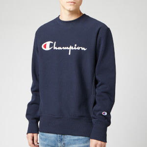 Champion Men's Big Script Sweatshirt - Navy