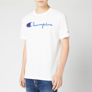 Champion Men's Big Script Crew Neck T-Shirt - White