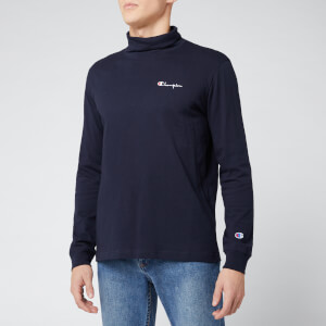 Champion Men's High Neck Long Sleeve T-Shirt - Navy