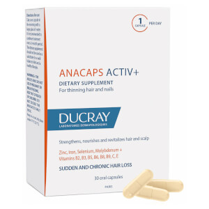 Ducray Anacaps ACTIV+ Dietary Supplement for Healthy Hair and Nails (30 Capsules)