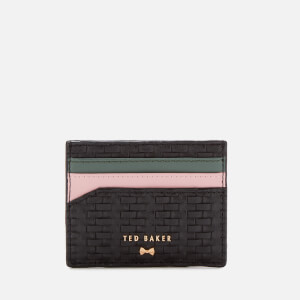 Ted Baker Women's Mabes Raffia Card Holder - Black