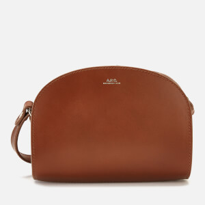A.P.C. Women's Mini Demi-Lune Crossbody Bag - Tan