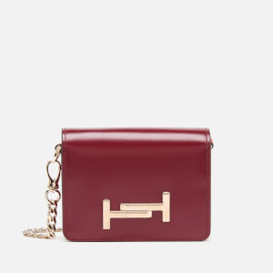 Tod's Women's Small Wallet On Chain - Bordeaux