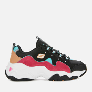 Skechers Women's D'Lites 3.0 Trainers - Black/Pink/Blue
