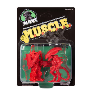 Super7 Alien Ripley and Alien Queen Red M.U.S.C.L.E. Figures - Zavvi Exclusive (2-Pack)