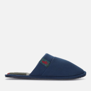 Polo Ralph Lauren Men's Summit Scuff Tartan Lined Slippers - Navy/Red