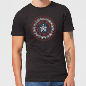 Marvel Captain America Oriental Shield Men's T-Shirt - Black