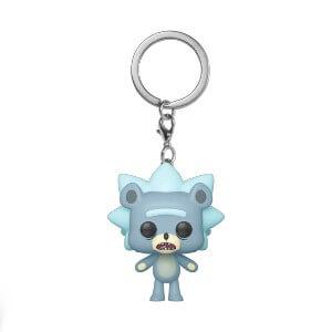 Rick & Morty Teddy Rick Pop! Keychain