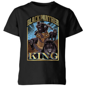 T-Shirt Marvel Black Panther Homage - Nero - Bambini
