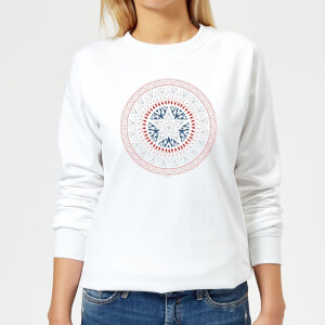 Marvel Captain America Oriental Shield Women's Sweatshirt - White
