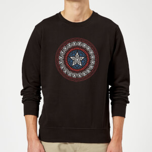 Marvel Captain America Oriental Shield Sweatshirt - Black