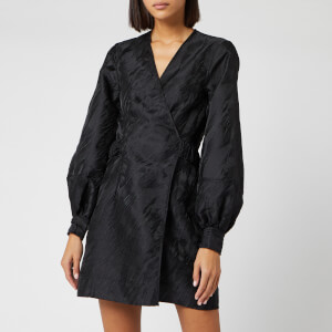 Ganni Women's Jacquard Dress - Black