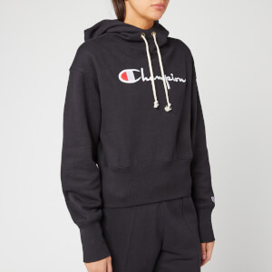 Champion Women's Big Script Hooded Sweatshirt - Black