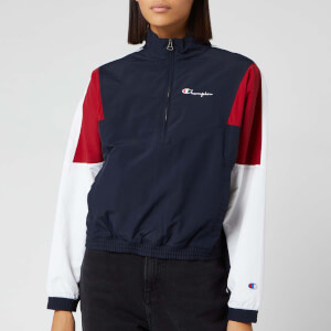 Champion Women's Half Zip Top - Navy/Red/White