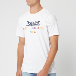 Levi's Men's 2 Horse 90's Text T-Shirt - White