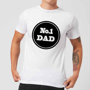 No.1 Dad Men's T-Shirt - White