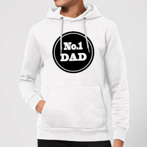 No.1 Dad Hoodie - White