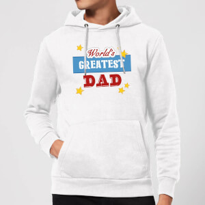 World's Greatest Dad Hoodie - White