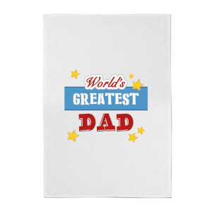 World's Greatest Dad Cotton Tea Towel