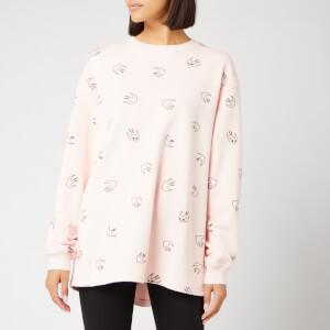 McQ Alexander McQueen Women's Pleat Back Sweatshirt - Soft Pink