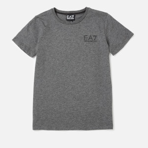 Emporio Armarni EA7 Boys' Train Core ID Short Sleeve T-Shirt - Dark Grey Melange