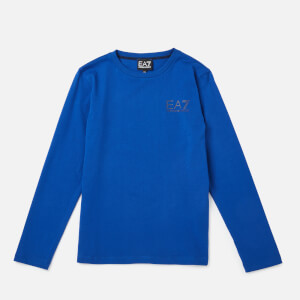 Emporio Armarni EA7 Boys' Train Core ID Long Sleeve T-Shirt - Mazarine Blue