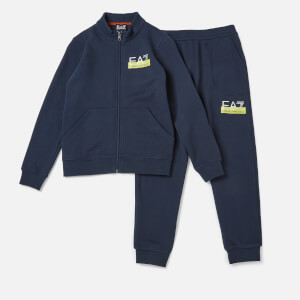 Emporio Armarni EA7 Boys' Train Visibility Full Zip Tracksuit - Navy