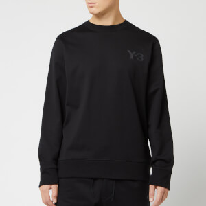 Y-3 Men's Logo Crew Neck Sweatshirt - Black